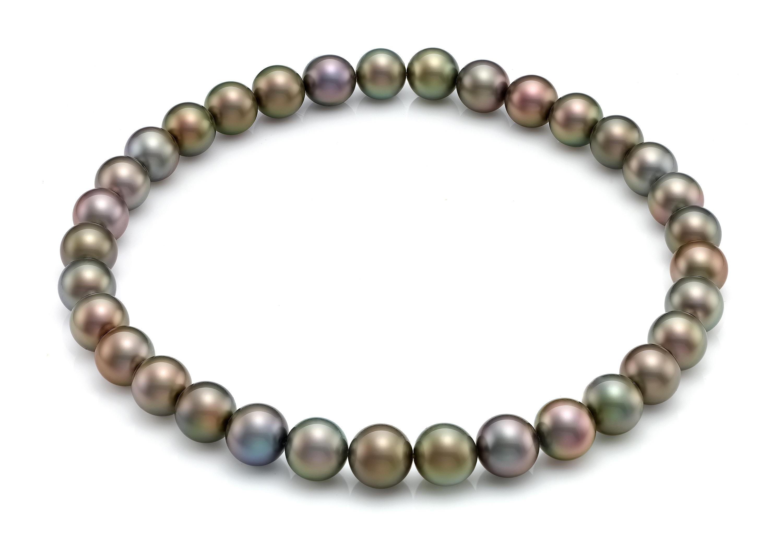 629ee6e8331e Collar de perlas redondas de tahiti multicolor