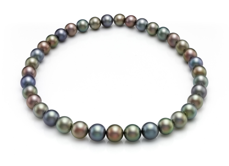 43a1f1517af2 Collar de perlas redondas tahiti multicolor
