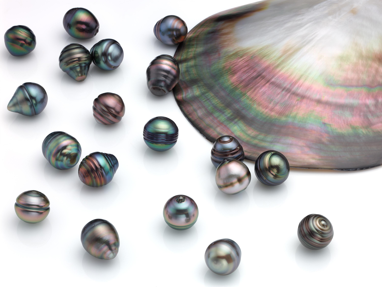 010256de709d Lote de Perlas tahiti circulo multicolor