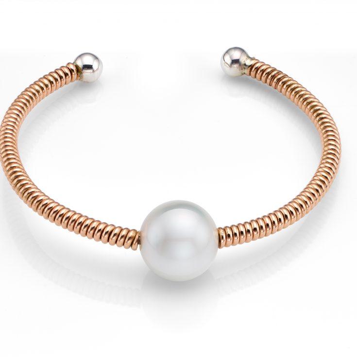 Pulsera de oro de 18 ktes con perla australiana